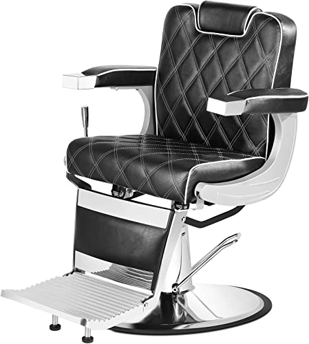 2021 Artist Hand Heavy Duty Vintage Barber Chair All Purpose Hydraulic Recline Salon Beauty Spa outlet online sale Styling Equipment discount Black outlet sale