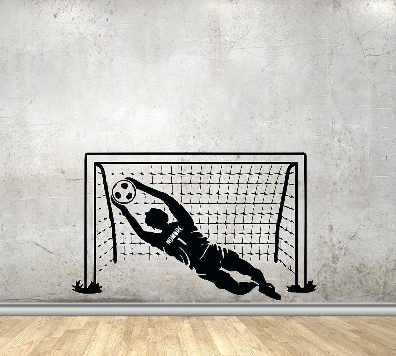 Vinyl Sport Wall Decals Soccer Football Goal Nets Ball Goalkeeper Player Vinyl Decor Stickers MK2328