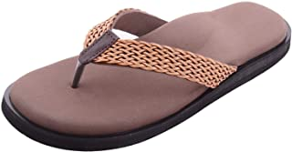 DIA ONE Orthopedic Rubber Sole MCP Insole Pain Relief Diabetic Slipper Footwear for Women - Dia_96_ES Brown