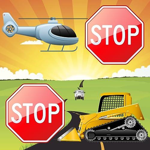 Vehículos juego de memoria para los niños pequeños y niños: automóviles, camiones...
