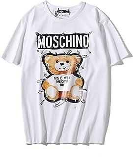 Moschino Pin bears Tee Round Neck T-shirt For Women And Girl