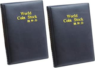 2 Packs 120 Pockets Coin Holder Money Penny Pocket Collection Coin Storage Album Book for Collectors