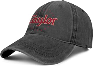 Taylor-Guitars-Logo- Mens Womens Washed Rock Cap Casual Hip Hop Hat Six Panel