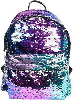 Mochilas de lentejuelas de poliuretano con purpurina, bolsas de viaje, bolsas de compras informales