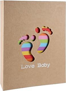 �lbum de fotos para bebé, RYMALL �lbum de Memorias, Little Foot,para niño y niña, regalos originales y únicos con recuerdos memorables, �lbum para 200 fotos (23 x 19 cm)