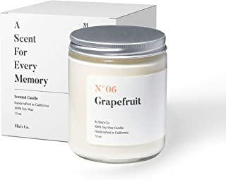 Sponsored Ad - Scented Candles for Home | Mia's Co. N°06 Grapefruit | Scented Luxury Soy Wax | Handcrafted in USA | Great ...