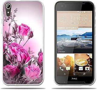 FUBAODA Funda para HTC Desire 830 Ultra Cristal Claro,Dibujo Rosa Fantasía Rojo Claro,Duradera,Suave al Tacto,Flexible[Antipolvo][Resiste A Arañazos][Calidad] Carcasas para HTC Desire 830 (5.5