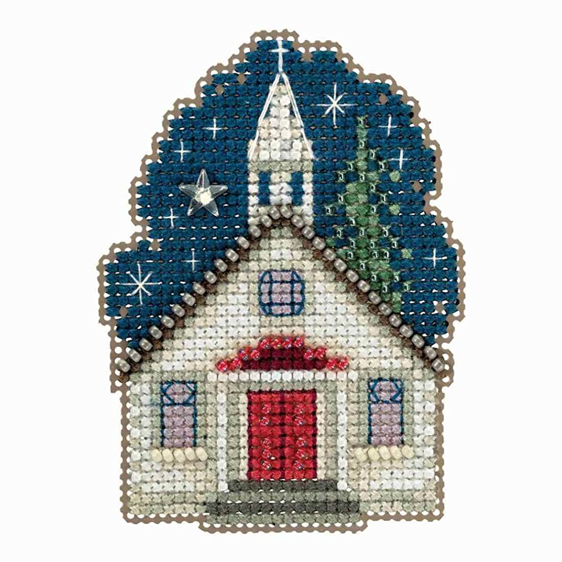 Sunday Night Beaded Counted Cross Stitch Ornament Kit Mill Hill 2018 Winter Holiday MH181834