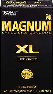 Trojan Magnum XL Large Size Lubricated Condoms - 12 Count