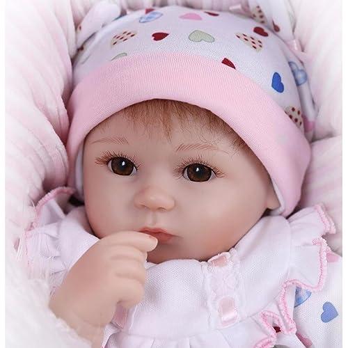 """NPK Muñecas de la Vida Real 18 """"Soft Vinilo de Silicona Reborn 45cm Lifelike Recién Nacido Bebé Regalo de Juguete"""