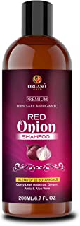 Organo Gold Natural Red Onion shampoo for hair strengthening & hairfall control - Paraben & Sulphate free 200gm