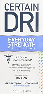 Certain DRI AM Antiperspirant/Deodorant Morning Fresh Scent Roll-on, 2.5 oz Per Pack (2 Packs)
