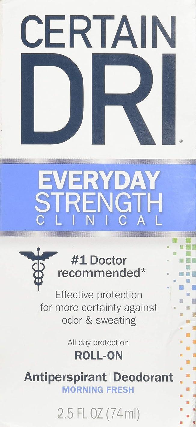 覆すサーバント荒らすCertain DRI AM Antiperspirant/ Deodorant Morning Fresh Scent Roll-on, 2.5 oz Per Pack (2 Packs) by Certain Dri