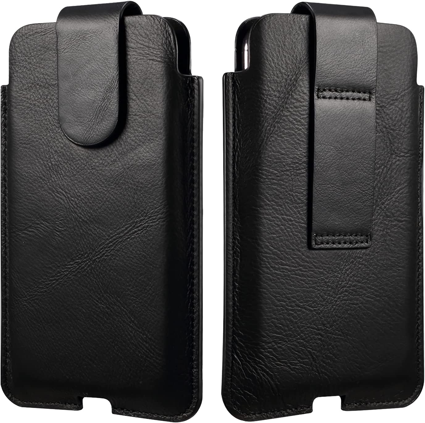 Genuine Leather Cell Phone Belt Holster for iPhone 12 Pro Max,Belt Cases for Samsung S21 Ultra 5G,S20 FE,Note 20,note20 Ultra,s21ultra,s21plus,s20ultra,s20+,for Men【Magnetic Closure】