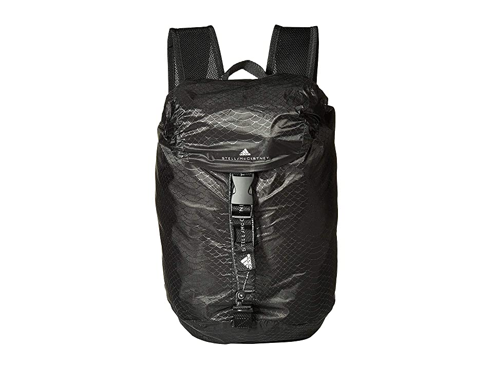 adidas by Stella McCartney Adizero Backpack S (Black White Black) Backpack  Bags a1205f6ad3274