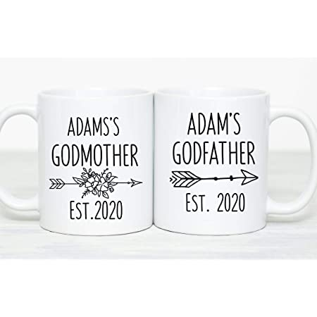 Godparents Coffee Mugs Godparents Proposal Christening Gift Godparents Mug Set Christmas Gift For Godparents