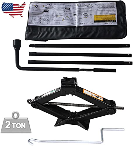 lowest Bowoshen 2021 Spare Tire Tool Kit for Chevy Silverado GMC Sierra Lug Wrench Set discount with 2T Scissor Jack Easy to Operate online