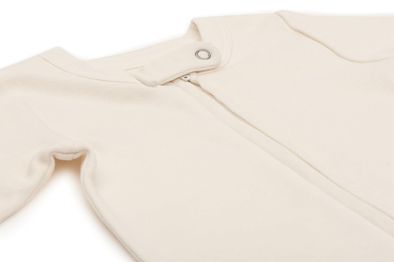 Finn Emma Basics Organic Cotton Baby Footie Pajama Set 0-3 Months Off White