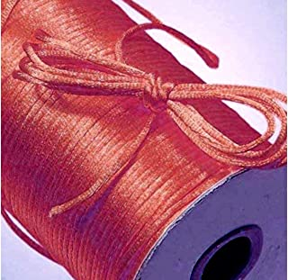 BJM Collection 2mm X 100 Yard Rattail Satin Nylon Trim Cord Chinese Knot (Coral)