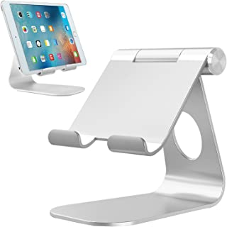 Soporte Tablet, Bovon Multiángulo Soporte iPad, Soporte móvil, Base Dock Ajustable para iPad Pro 9.7 10.5 12.9, iPad Air, iPad Mini, iPhone X XS Max XR 8 7 6s Plus, Samsung Tabs, E-reader (4-13