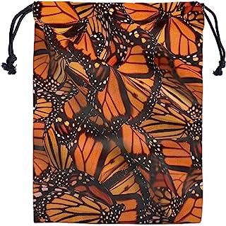Butterflies Drawstring Storage Bag Gym - Girls Grip Bags for Gymnastics Orange Monarch Butterfly Drawstring Bags Pouch Sho...