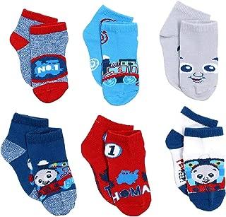 Thomas & Friends Little Boy's 6-Pack Character Quarter Socks, Toddler Shoe Size 4-7, Blue/Red