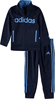 adidas Little Girls' Tricot Zip Jacket and Pant Set