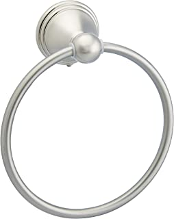 AmazonBasics AB-BR807-SN Modern Towel Ring, 6.3-inch Diameter, Satin Nickel