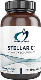 Designs for Health Vitamin C + Bioflavonoid Capsules - Stellar C, VIT C with Citrus Bioflavonoids, Rutin, Quercetin - Non-...
