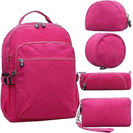 5pcs/set Casual Original School Backpack for Teenage Kiple Mochila Escolar Travel Bag Backpack for
