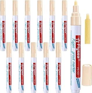 12 Pieces Grout Pen Rejuvenate Grout Pen Restorer Renew Repair Marker for Tile Wall Floor Beige Outus-Grout Pen-004