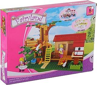 Ausini FairyLand House Construction Toy For Kids, 319 Pieces - Multi Color