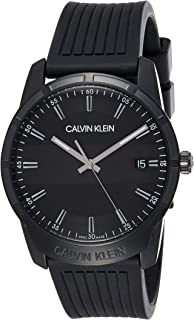 Calvin Klein Mens Quartz Wrist Watch, Analog and Rubber- K8R114D1