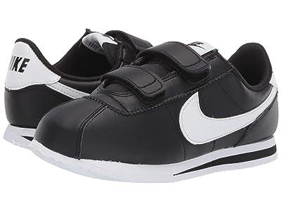 Nike Kids Cortez Basic SL (Little Kid) (Black/White) Boys Shoes