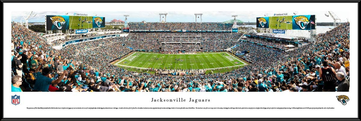Amazon Com Jacksonville Jaguars 44x18 Inch Double Mat Deluxe Framed Picture By Blakeway Panoramas Sports Outdoors