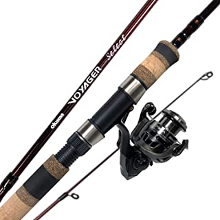 Okuma Fishing Tackle Voyager Select Travel Kit Spinning Combo, Merlot