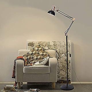 Modern Floor Lamp for Bedroom,Metal Stand Adjustable Head Reading Light for Living Room,Office