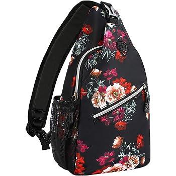 MOSISO Sling Backpack,Travel Hiking Daypack Cottonrose Crossbody Shoulder Bag