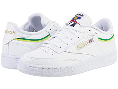 Reebok Lifestyle Club C 85 (White/Hero Yellow/White) Women