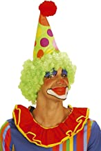 WIDMANN S.R.L. Cone Clown withNeon Curly Wig for Hair Accessory Fancy Dress