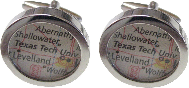 Texas Tech University Map Cufflinks
