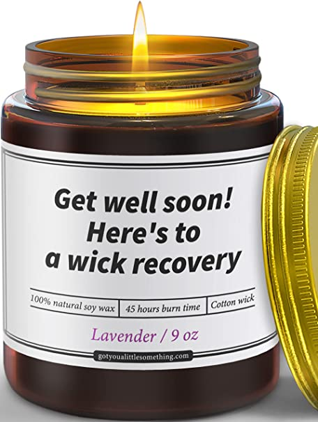 """This Punny """"Get Well Soon"""" Candle"""