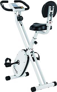 ダイコー テレビドラマでも使用 フィットネスバイク アップライトバイク ホワイト 家庭用 静音 マグネット式 折り畳み式 省スペース ダイエット エアロ 自転車 有酸素運動 DK-662H