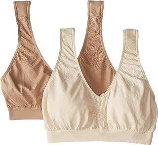 Women's Comfort Revolution Microfiber Crop Bra 2-Pair Beige/Nude XX-Large