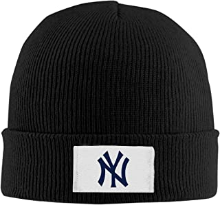 SOOSU Unisex Yankees Logo Watch Cap Ash