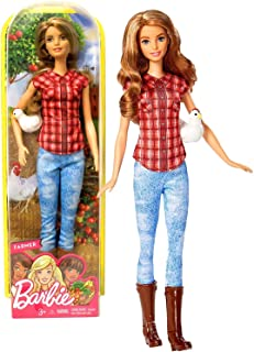 """Barbie Unknown Mattel Year 2016 Career 12"""" Doll As Farmer (Dvf53) with Chicken, Multicolor"""