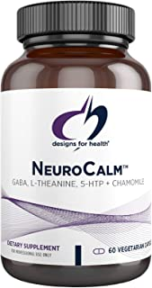 Designs for Health NeuroCalm - GABA (PharmaGABA), L-Theanine, 5-HTP + Chamomile - Calm, Mood + Serotonin Support Supplemen...