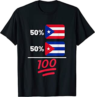 Puerto Rican And Cuban Heritage Flag Gift T-Shirt