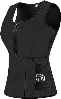 BFYTN Sweat Vest Waist Trainer for Women Weight Loss Neoprene Sauna Slimming Vest with Adjustable Waist Trimme Black