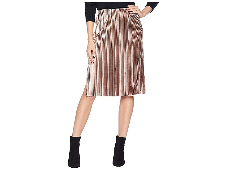 J.O.A. Side Slit Pencil Skirt (Pink) Women